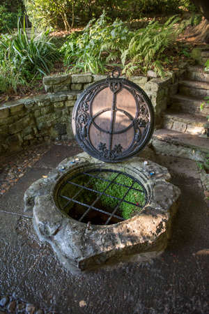The Chalice Well, also known as the Red Spring, is a well situated at the foot of Glastonbury Tor in the county of Somerset, England.