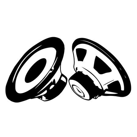 Black acoustic speaker