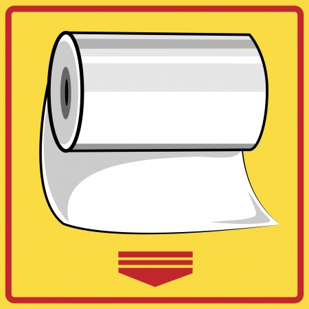 Hand paper towels roll