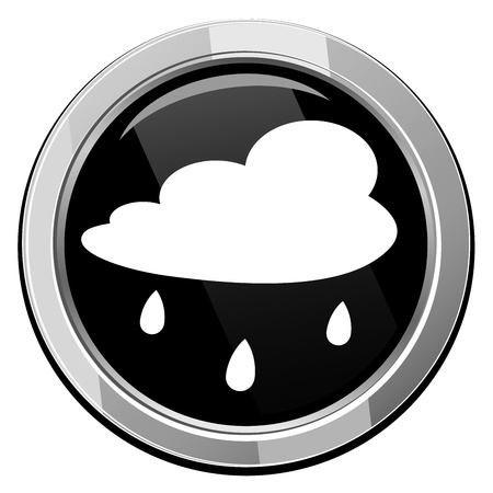 Rain cloud - Vector icon isolated