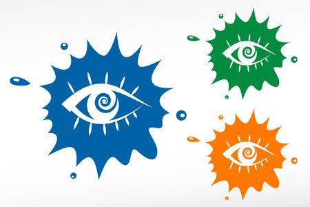 Color blob - Human eye