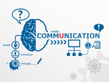 Communication concept and social media art. Worldwide communication