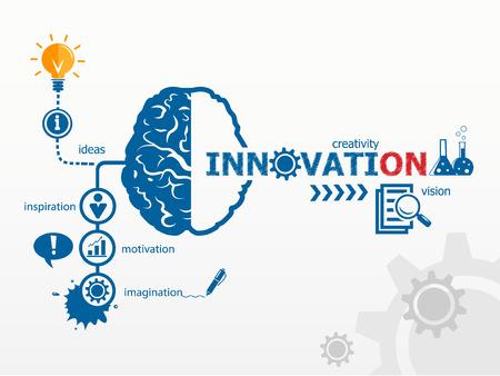 Illustration pour Innovation concept. Creative idea abstract infographic - image libre de droit