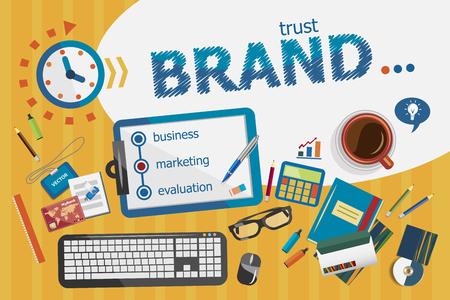 Illustration pour Branding design concept. Typographic poster. Branding concepts for web banner and printed materials. - image libre de droit