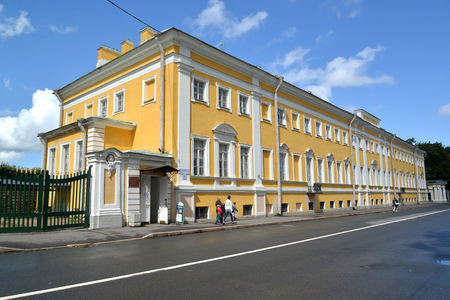 PETERHOF, RUSSIA - JULY 24, 2015: The museum of collectors (the being Verkhnesadsky house)