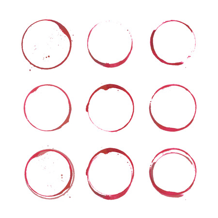 Illustration for Wine stain circles - Royalty Free Image