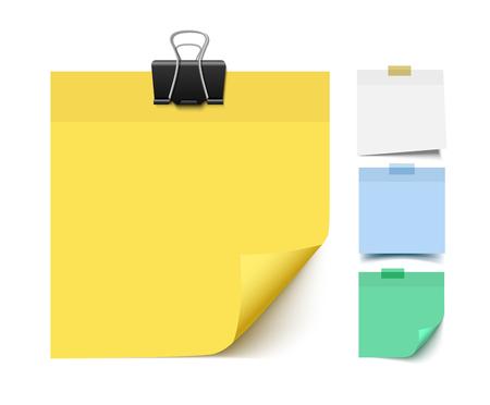 Illustration pour Sticky note paper. Realistic vector illustration of post it paper pieces. Memo, reminder paper. - image libre de droit