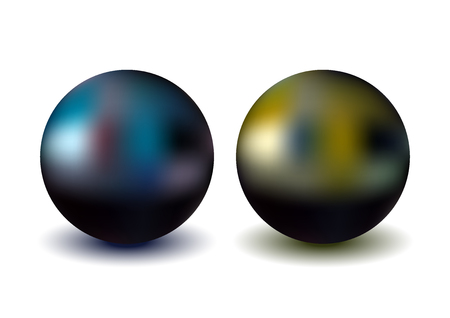 Metallic sphere, realistic vector illustration