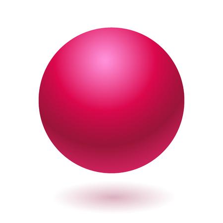 Pink glossy ball vector illustration