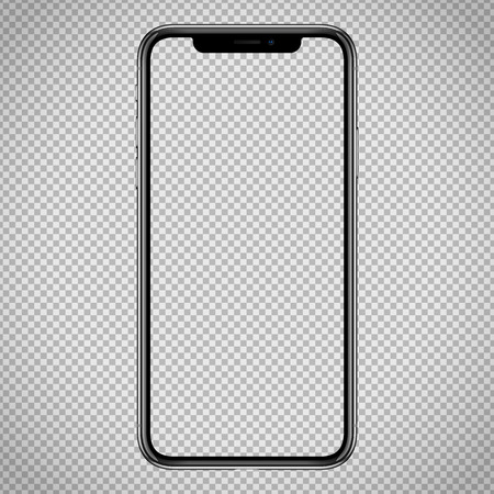 Illustration pour new vector Smartphone template for web interface, app demo mockup. No frames and blank screen on transparent backround - image libre de droit