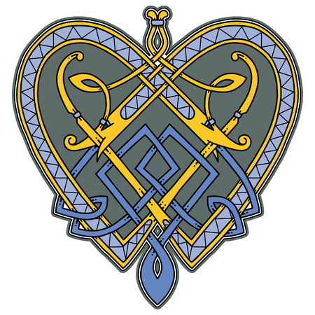 Logo in the Celtic style.