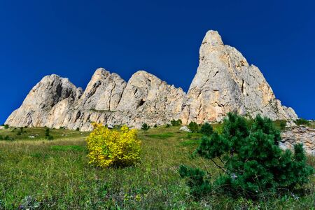 Caucasian mountains of the Republic of Adygea, Krasnodar region. South of Russia.