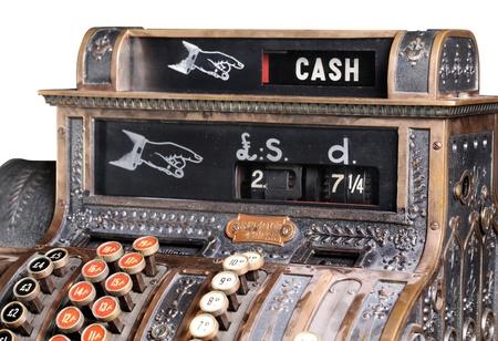 Old-style cash register.