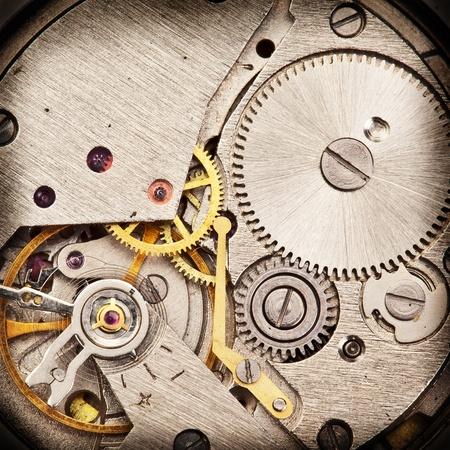 Mechanical clockwork  Close up shot