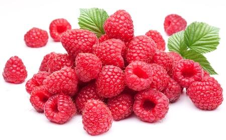 Foto für Ripe raspberries isolated on a white background. - Lizenzfreies Bild
