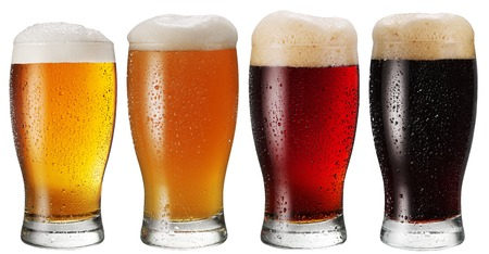 Photo for Glasses of beer on white background. - Royalty Free Image