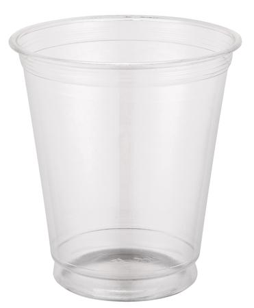Empty plastic cup.