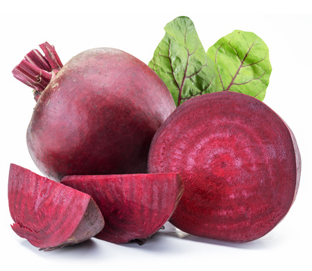Foto de Red beet or beetroot on white background. - Imagen libre de derechos
