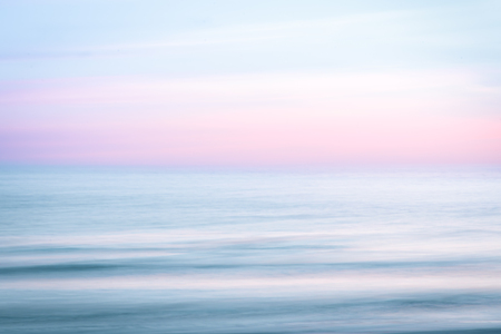 Photo for Abstract sunset sky and  ocean nature background with blurred panning motion. - Royalty Free Image