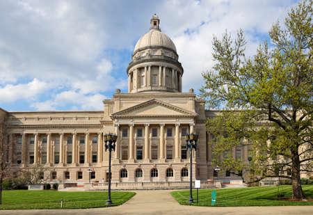 Photo pour The south view of Kentucky State Capitol building. Frankfort, KY, USA. - image libre de droit