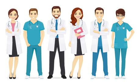 Illustration pour Team of doctors illustration. - image libre de droit