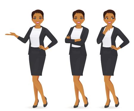 Ilustración de Business woman set - Imagen libre de derechos