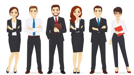 Ilustración de Business team set isolated on plain background - Imagen libre de derechos