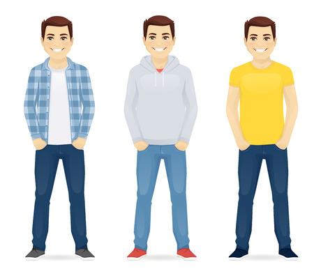 Illustration pour Man casual clothers - image libre de droit