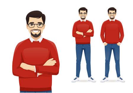 Illustration pour Man in casual clothes standing - image libre de droit