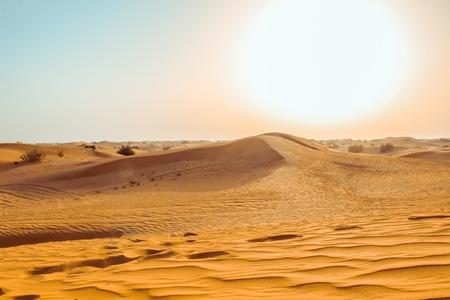 Photo pour Sand dunes of the desert close up. Dubai 2019. - image libre de droit
