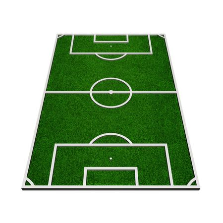 3d model of a soccer field (3d render)