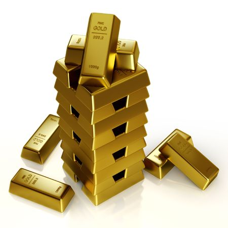 Gold bars tower