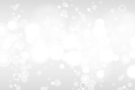Illustration pour Silver and white bokeh lights defocused. Abstract background. Elegant, shiny, blurred light background. EPS 10 - image libre de droit