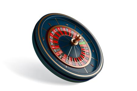 Photo pour Luxury casino roulette wheel isolated on white - image libre de droit