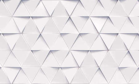 Photo pour Abstract triangular background with white triangles. Geometric 3d rendering. - image libre de droit