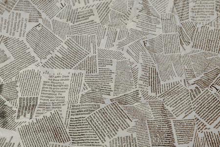 Photo pour Black and white repeating torn newspaper background. Continuous pattern left, right, up and down - image libre de droit