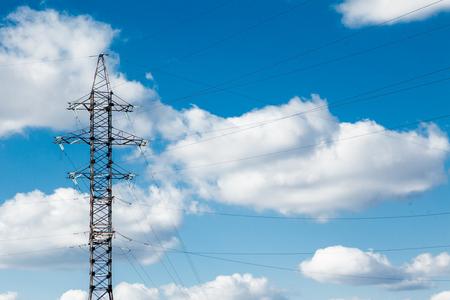 Photo pour High Voltage Electric Tower. High voltage post or High voltage tower Power concept. - image libre de droit