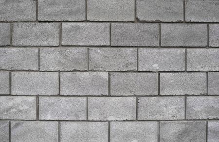 Photo pour Lightweight concrete block foamed texture. Background texture of white Lightweight Concrete block, raw material for industrial or house wall. - image libre de droit
