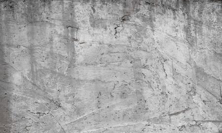 Foto de Texture of old concrete wall for background. White concrete wall background with a cracks nad holes - Imagen libre de derechos