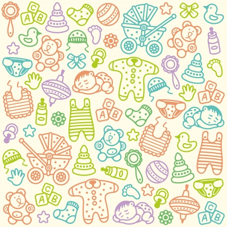 Illustration for baby pattern - Royalty Free Image