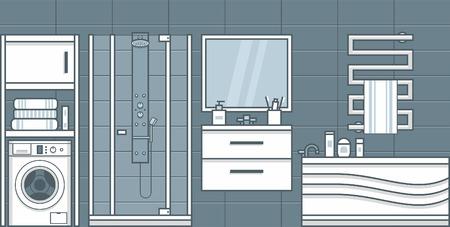 Bathroom interior vector illustration