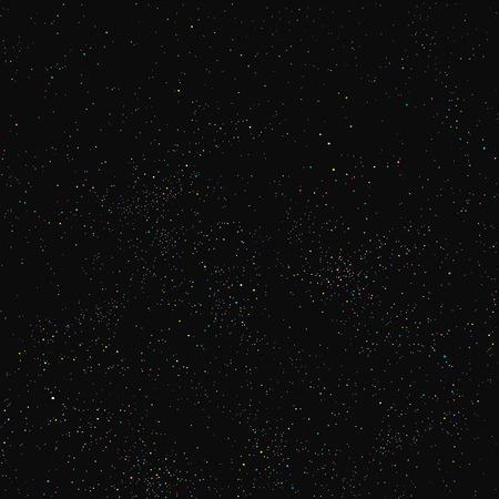 Ilustración de Night sky filled with stars - Imagen libre de derechos