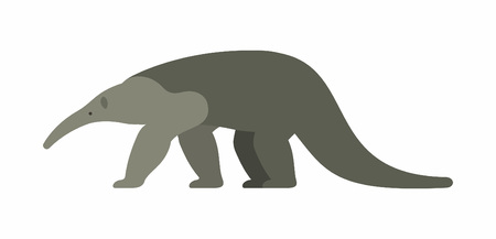 Illustration pour Giant anteater icon isolated on white background, vector illustration. - image libre de droit