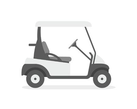 Ilustración de Golf cart. flat style. isolated on white background - Imagen libre de derechos