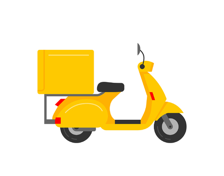 Illustration pour Scooter Courier isolated on white background - image libre de droit