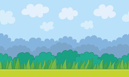 Illustration pour Nature landscape background. Game graphic - image libre de droit