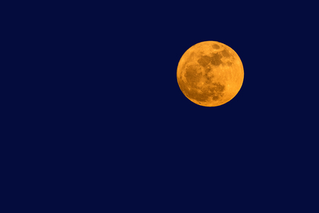 Photo for Big full moon in twilight sky. - Royalty Free Image