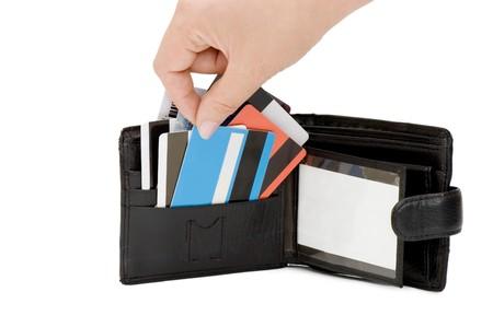 credit card in a purse