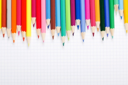 A number of colour pencils