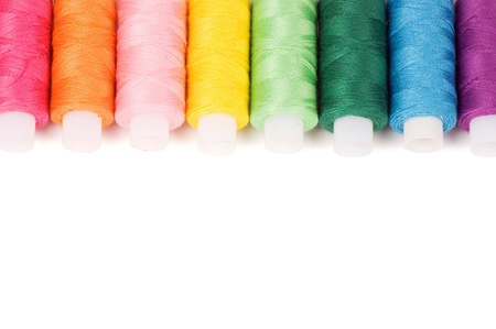 Photo pour Coil of threads isolated on white background - image libre de droit